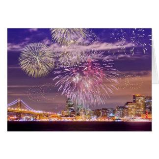 サンフランシスコの新年の花火 カード