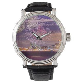 サンフランシスコの新年の花火 腕時計