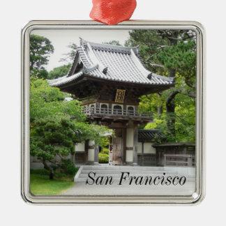 サンフランシスコの日本のな茶庭 メタルオーナメント