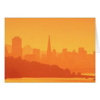 サンフランシスコの明るい日没 カード