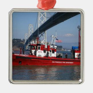 サンフランシスコの火のボート メタルオーナメント