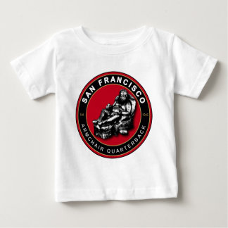 サンフランシスコの肘掛け椅子のクォーターバックの乳児のワイシャツ ベビーTシャツ