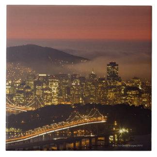 サンフランシスコの都市景観 正方形タイル大
