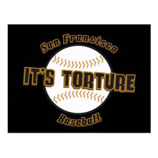 サンフランシスコの野球それは苦悶の郵便はがきです ポストカード