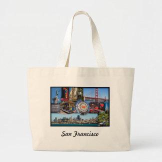サンフランシスコの魅力 ラージトートバッグ