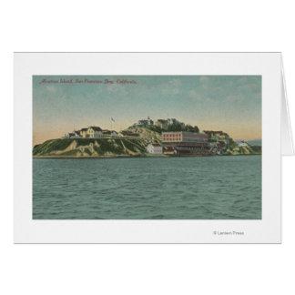 サンフランシスコのCAAlcatrazの島の刑務所の眺め カード