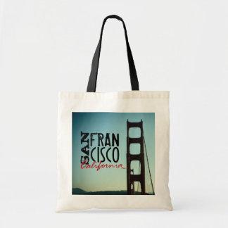サンフランシスコカリフォルニアのゴールデンゲートブリッジのバッグ トートバッグ