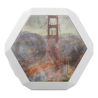 サンフランシスコカリフォルニアのゴールデンゲートブリッジ ホワイトBluetoothスピーカー