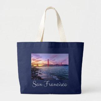 サンフランシスコカリフォルニアのゴールデンゲートブリッジ-米国 ラージトートバッグ