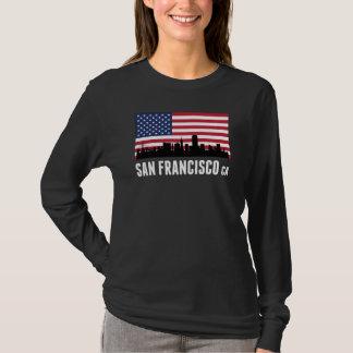 サンフランシスコカリフォルニアの米国旗 Tシャツ