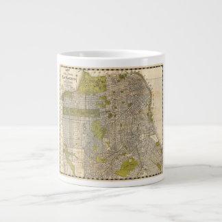 サンフランシスコカリフォルニアの1932年のCandrainの地図 ジャンボコーヒーマグカップ