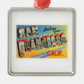 サンフランシスコカリフォルニアカリフォルニア古い旅行記念品 メタルオーナメント