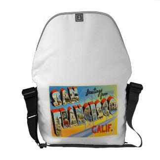 サンフランシスコカリフォルニアカリフォルニア古い旅行記念品 メッセンジャーバッグ