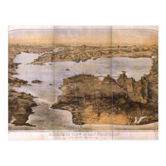 サンフランシスコカリフォルニア(1876年)のBirdseyeの眺め ポストカード