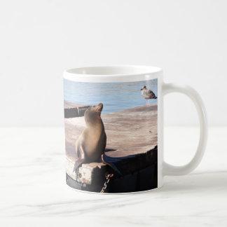 サンフランシスコ桟橋39のアシカのマグ コーヒーマグカップ