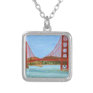 サンフランシスコ橋 シルバープレートネックレス