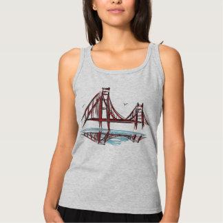 サンフランシスコ湾のゴールデンゲートブリッジ タンクトップ