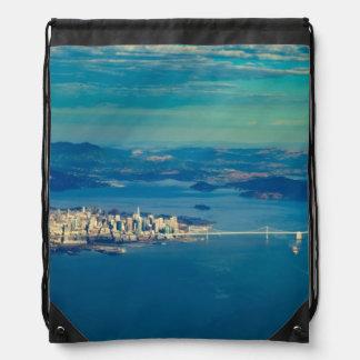 サンフランシスコ湾の航空写真 ナップサック