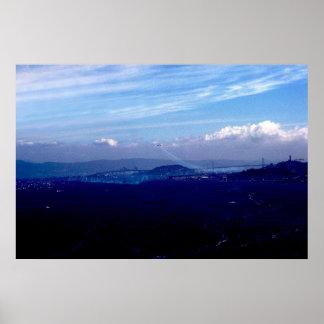 サンフランシスコ湾上のブルーエンジェル ポスター