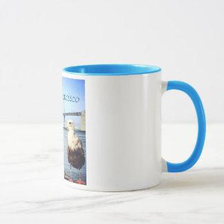 サンフランシスコ湾橋カモメのマグ マグカップ
