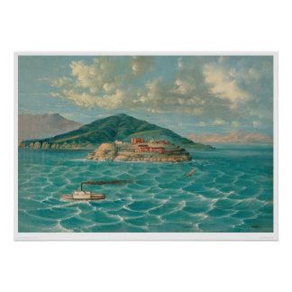 サンフランシスコ湾(1856A)のAlcatraz ポスター
