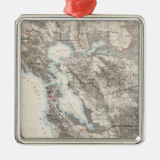 サンフランシスコ湾(1873年)のヴィンテージの地図 メタルオーナメント