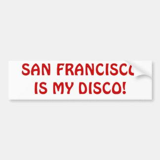 「サンフランシスコ私のディスコ」は豊富なStkrです バンパーステッカー
