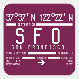 サンフランシスコ空港コード 正方形シール