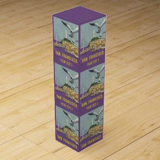 サンフランシスコ米国のヴィンテージ旅行ワイン用化粧箱 ワインギフトボックス