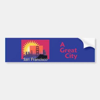 サンフランシスコ素晴らしい都市バンパーステッカー バンパーステッカー