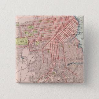 サンフランシスコ7 5.1CM 正方形バッジ