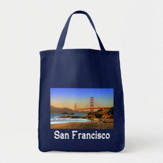 サンフランシスコ、カリフォルニアのゴールデンゲートブリッジの戦闘状況表示板 トートバッグ