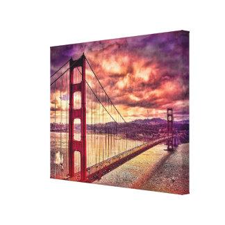 サンフランシスコ、カリフォルニアのゴールデンゲートブリッジ キャンバスプリント