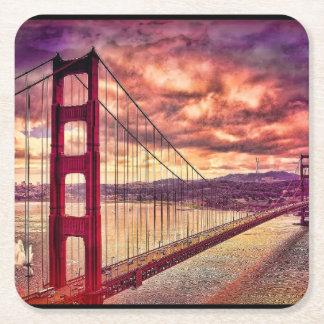 サンフランシスコ、カリフォルニアのゴールデンゲートブリッジ スクエアペーパーコースター