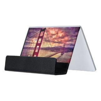 サンフランシスコ、カリフォルニアのゴールデンゲートブリッジ デスク名刺ホルダー