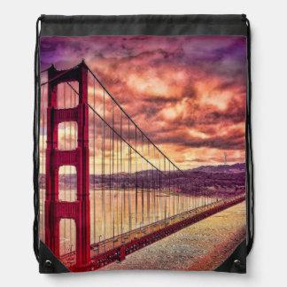 サンフランシスコ、カリフォルニアのゴールデンゲートブリッジ ナップサック