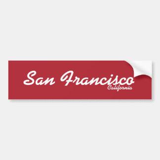 サンフランシスコ、カリフォルニアのバンパーステッカー バンパーステッカー