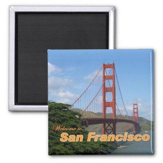 サンフランシスコ-ゴールデンゲートブリッジへようこそ マグネット
