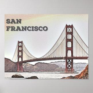サンフランシスコ-ゴールデンゲートブリッジ ポスター