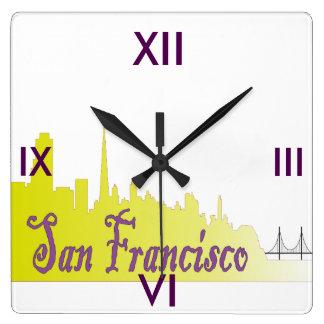 サンフランシスコ スクエア壁時計