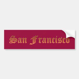 サンフランシスコ バンパーステッカー