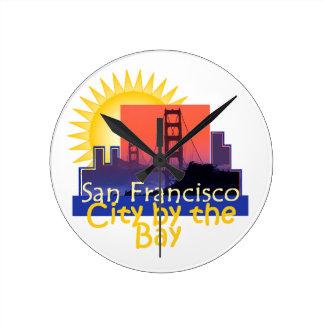 サンフランシスコ ラウンド壁時計