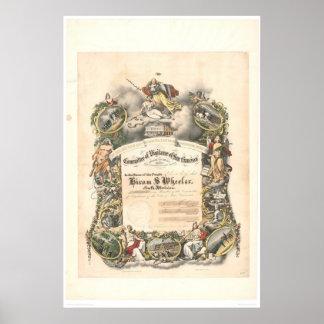 サンフランシスコ(1825A)の警戒の委員会 ポスター