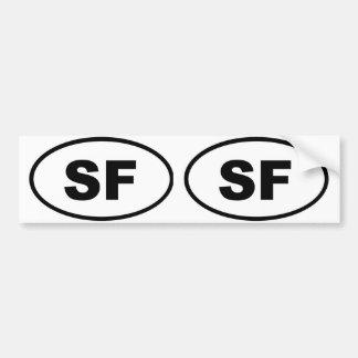 サンフランシスコSF バンパーステッカー