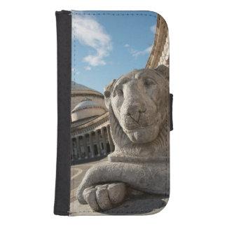 サンフランチェスコdi Paolaの前のライオンの彫像 ウォレットケース