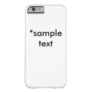 サンプル文字の場合 BARELY THERE iPhone 6 ケース