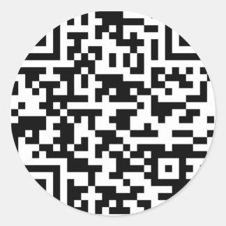 サンプルBitcoin QRコード ラウンドシール