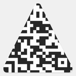 サンプルBitcoin QRコード 三角形シール
