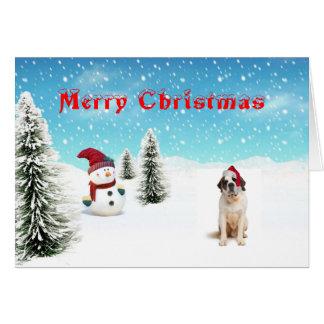 サンベルナール峠のクリスマスカード カード