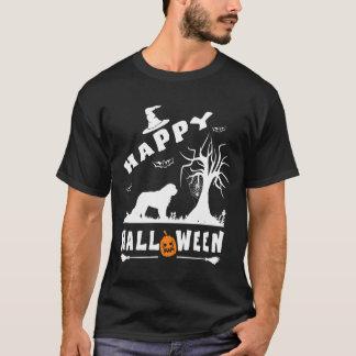 サンベルナール峠のハッピーハローウィンの愛犬家のギフト Tシャツ